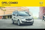 Opel Combo Infotainment Manual MY 13.0 - Combo Infotainment Manual MY 13.0 manuale