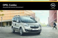 Opel Combo Infotainment Manual MY 15.0 - Combo Infotainment Manual MY 15.0 manuale