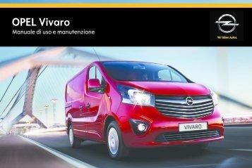 Opel Vivaro MY 15.5 - Vivaro MY 15.5 manuale