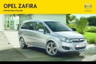 Opel Zafira Infotainment Manual MY 14.0 - Zafira Infotainment Manual MY 14.0 manuale