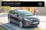Opel Zafira Infotainment Manual MY 15.5 - Zafira Infotainment Manual MY 15.5 manuale