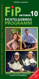 Fichtelgebirgs-Programm - Oktober 2015