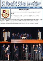 Newsletter 5 - St Benedict School