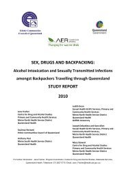 SEX DRUGS AND BACKPACKING STUDY REPORT 2010
