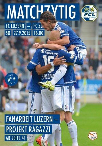 FC LUZERN Matchzytig N°4 15/16 (RSL 10)