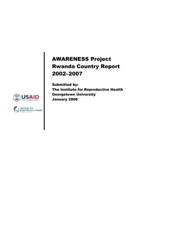 AWARENESS Project Rwanda Country Report 2002 ... - part - usaid