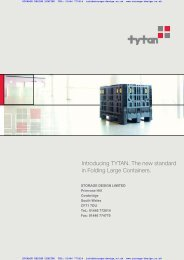 Introducing TYTAN The new standard in Folding Large Containers
