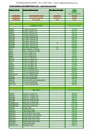 food grade containers price list - Storage Design Limited