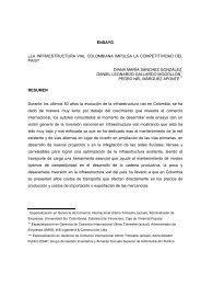 ensayo Â¿la infraestructura vial colombiana impulsa la competitividad ...