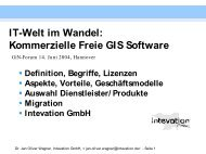 IT-Welt im Wandel: Kommerzielle Freie GIS Software