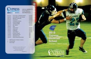 2010 Cypress Christian School