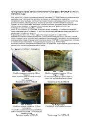 Температурна крива на таванното отоплително фолио ECOFILM ...