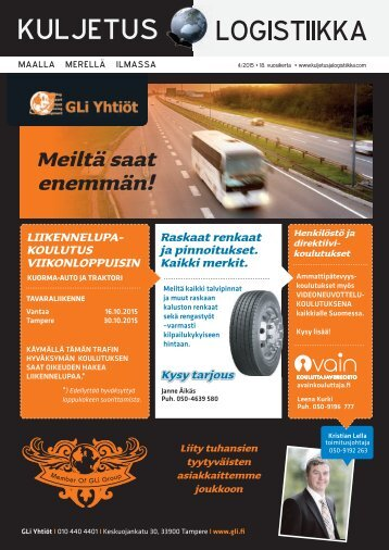 Kuljetus & Logistiikka 4 / 2015
