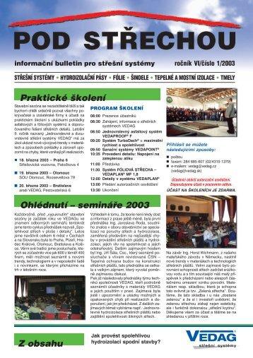 Praktické školení Ohlédnutí – semináøe 2003 Z obsahu