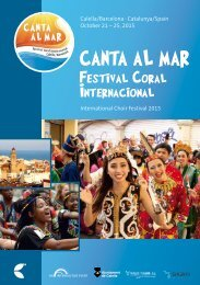 Canta al mar 2015 - Program Book