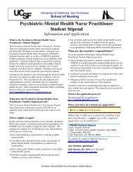 Psychiatric-Mental Health Nurse Practitioner Student Stipend