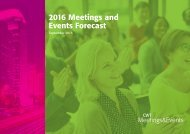 2016 Meetings and Events Forecast