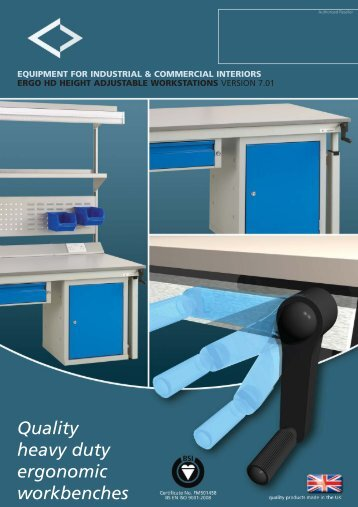 Quality heavy duty ergonomic workbenches