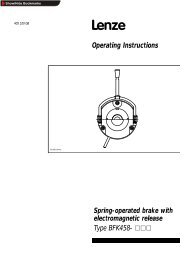 Lenze 405 520GB Spring Operated Brake - Southern Power