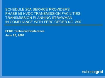 SCHEDULE 20A SERVICE PROVIDERS PHASE I/II HVDC ...