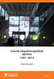 Svensk migrationspolitisk opinion 1991–2012