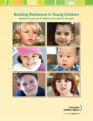 Building Resilience in Young Children