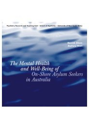 The Mental Health and Well-Being of On-Shore ... - Project Safecom
