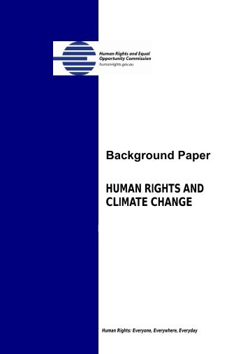 Background Paper HUMAN RIGHTS AND CLIMATE CHANGE