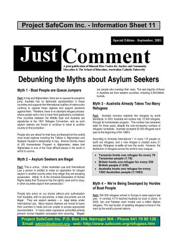 Debunking the Myths about Asylum Seekers