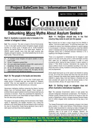 Debunking More Myths About Asylum Seekers