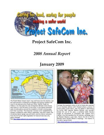 Project SafeCom Inc 2008 Annual Report January 2009