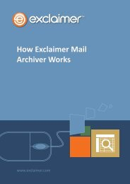 How Exclaimer Mail Archiver Works