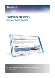 TECHNICAL RESOURCE Remote Banner Control