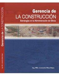 GERENCIA DE LA CONSTRUCCIÓN