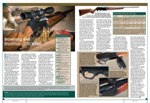 Browning BAR ShortTrac  270 WSM