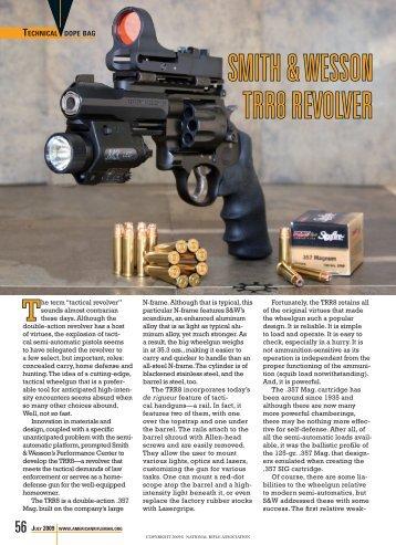Smith & Wesson TRR8 Revolver