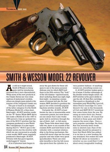 SMITH & WESSON MODEL 22 REVOLVER