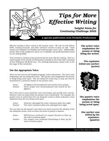 Effective essay writting