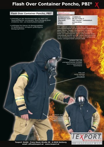Flash Over Container Poncho PBI