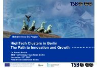 HighTech Clusters in Berlin The Path to Innovation and Growth