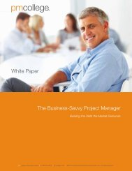 White Paper The Business-Savvy Project Manager