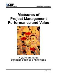 Measures of Project Management Performance and Value
