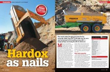 Hardox as nails