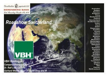 Roadshow Switzerland