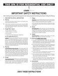 IMPORTANT SAFETY INSTRUCTIONS - Page 3