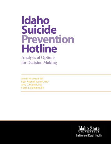an analysis of the suicide prevention Overview of recommendations of suicide prevention expert, lindsay hayes, regarding suicide prevention practices within the santa clara county department of correction submitted by: mike brady conduct the gap analysis and that work is still in progress.