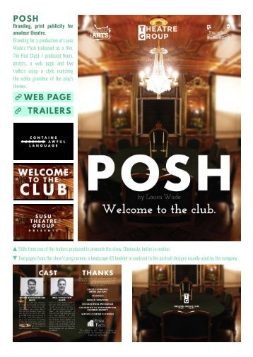 POSH WEB PAGE TRAILERS
