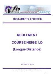 REGLEMENT COURSE NEIGE LD (Longue Distance)