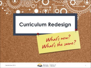 Curriculum Redesign