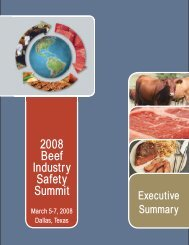 2008 Beef Industry Safety Summit